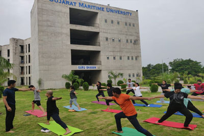 Yoga Session from Gujarat Maritime University